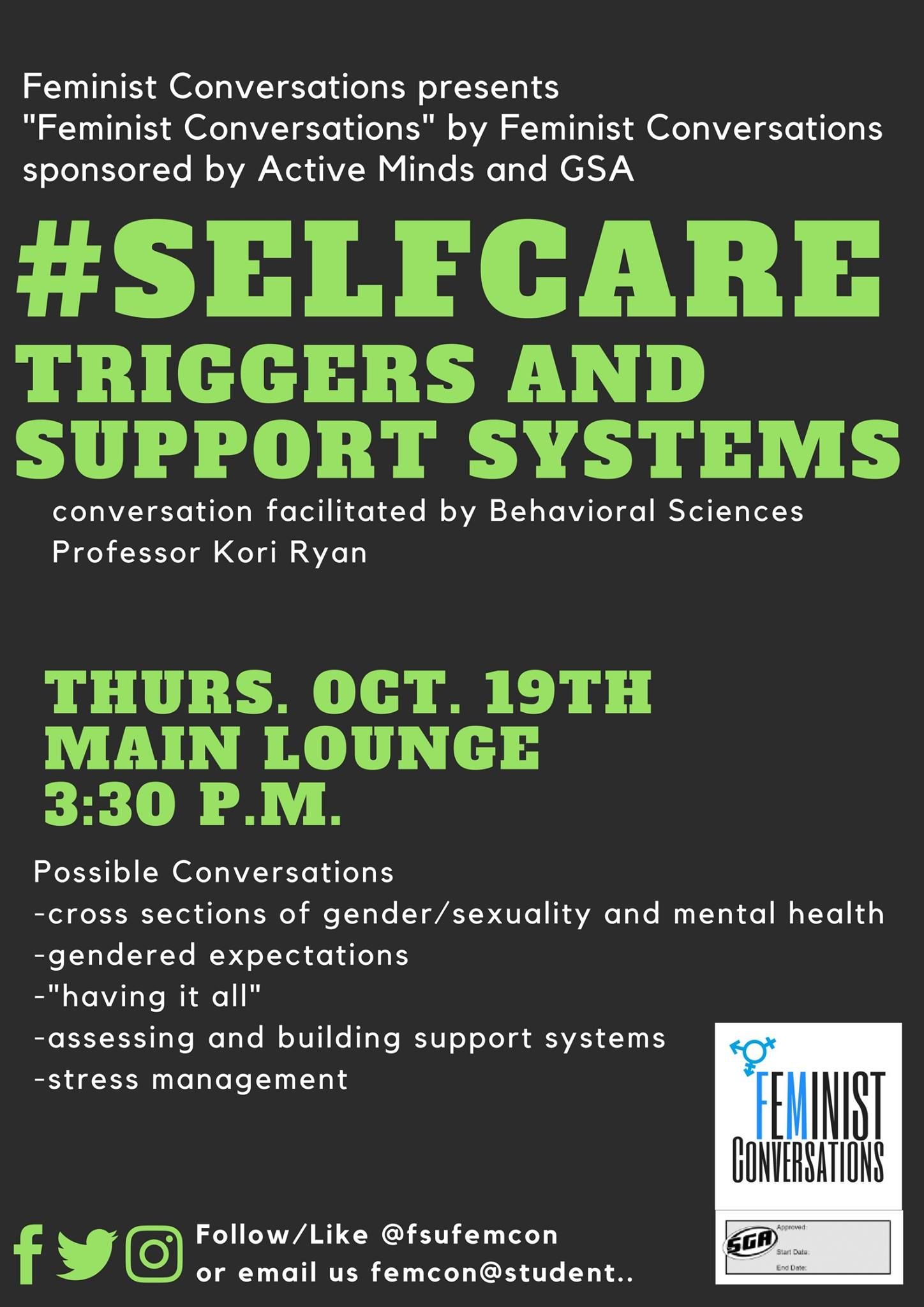 Self Care: Triggers and Support Systems